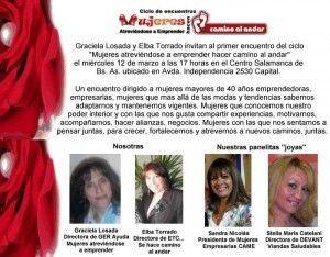 Mujeres Atreviéndose a Emprender Hacen Camino al Andar - Marzo 2014.
