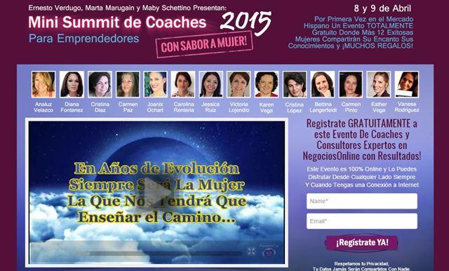 Mini Summit de Coaches 2015 Para Emprendedores Con Sabor a Mujer.