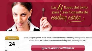Evento | 4 Llaves del Éxito Para una Consulta de Coaching – Conferencia Online Gratuita