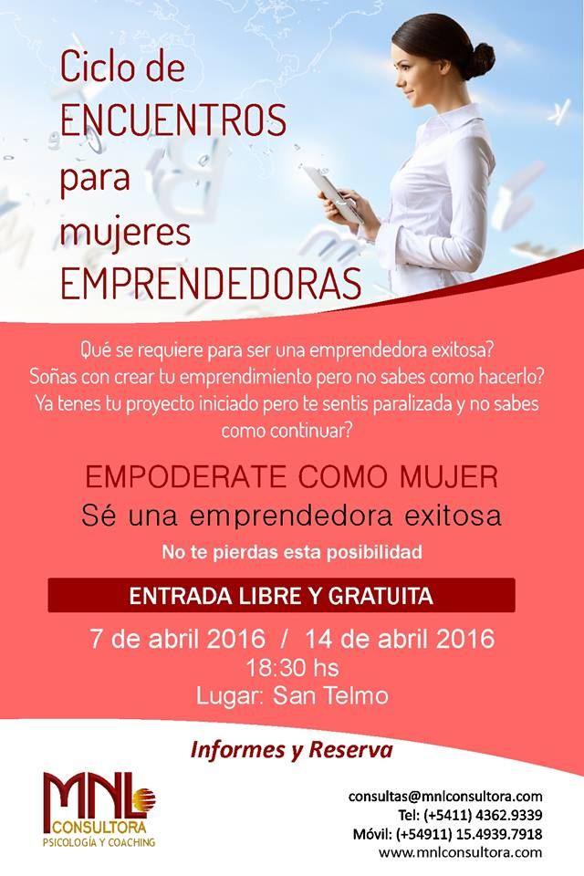 Ciclo de Encuentro para Mujeres Emprendedoras.
