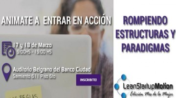 Eventos | Lean Startup Motion Mujer – Marzo 2016