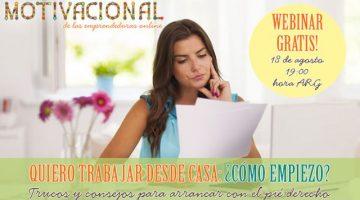 "Evento | Webinar Gratuito para Emprendedoras ""Trabajo Desde Casa"" – Agosto 2016"