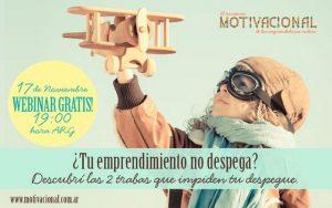"""Webinar Gratuito Para Emprendedoras: """"¿Tu Emprendimiento no Despega?"""" – Noviembre 2016"""