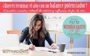 """Webinar Gratuito Para Emprendedoras: """"¿Querés terminar el año con un balance potenciador?"""" – Diciembre 2016"""