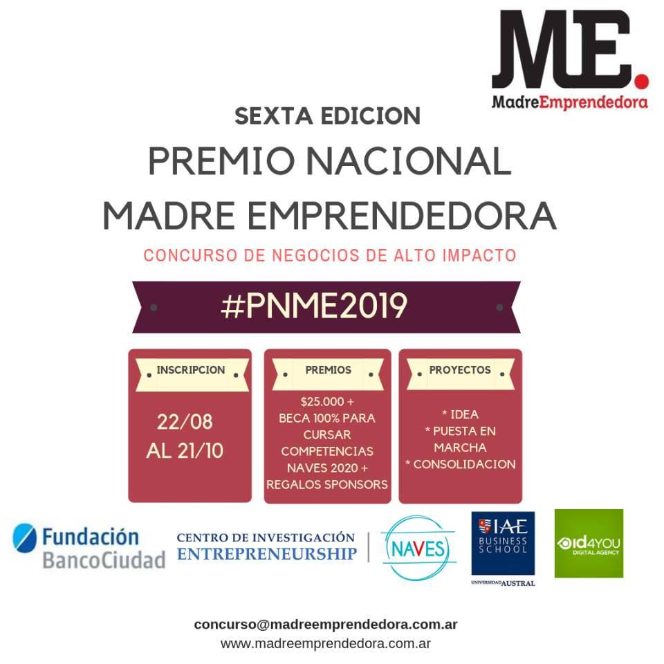 Premio Nacional Madre Emprendedora 2019